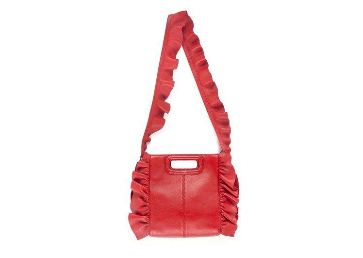 紅色荷葉邊M Bag,價格店洽。圖/Maje提供