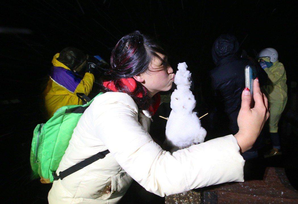 雪地自拍直播其實很危險。 圖/聯合報系資料照片