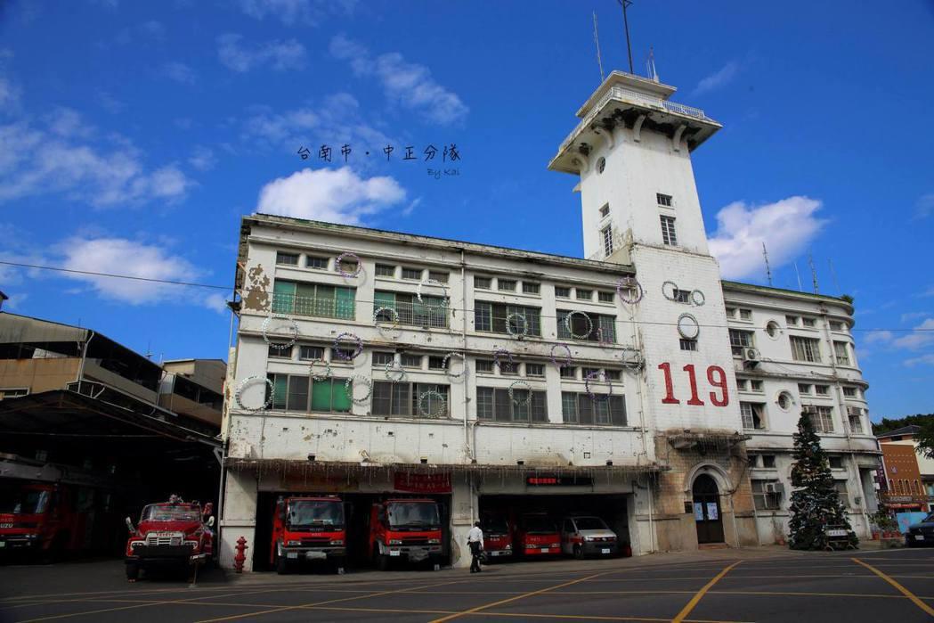 台南市的中正分隊因具有歷史意義,被列為市地古蹟。 圖/張文愷提供