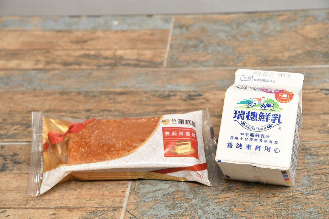 首波主打「瑞穗鮮乳290ml搭配統一蛋糕屋雙起司蛋糕」,可補足學童每日四成以上鈣...