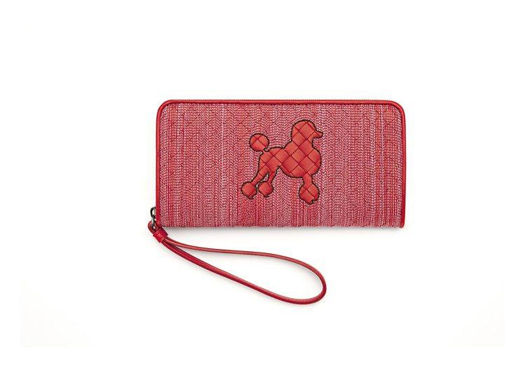 刺繡編織小羊皮長夾26,000元。圖/Bottega Veneta提供