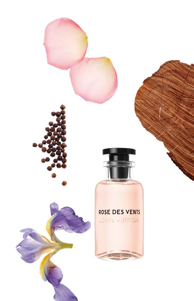 「風中玫瑰Rose des Vents」是在台灣最受歡迎的香氛之一。圖/LV提供