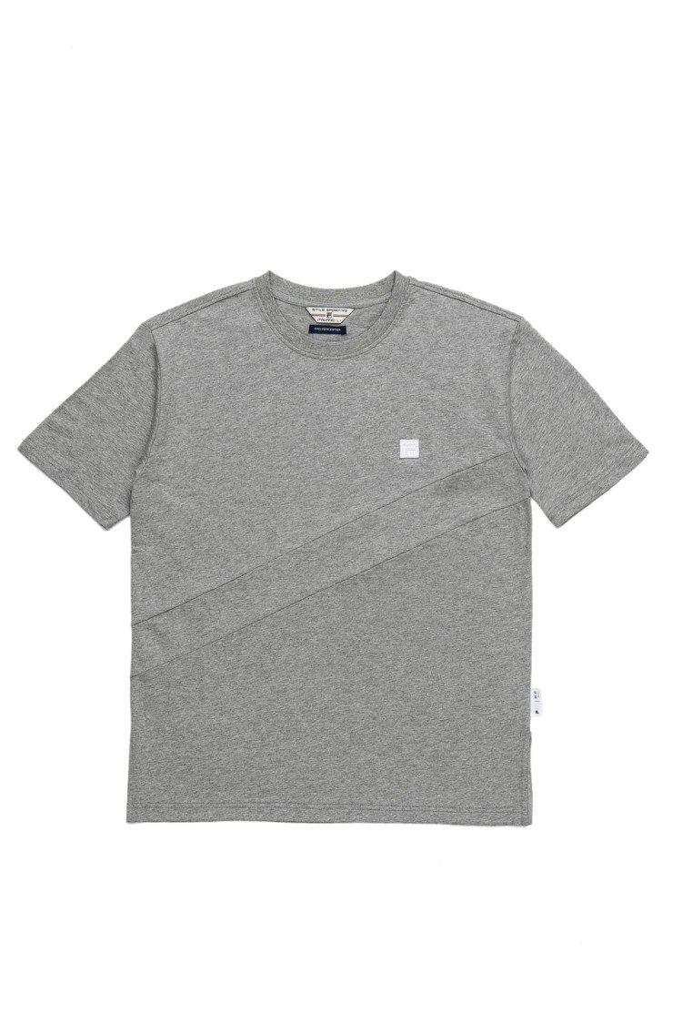 plain-me與Fila合作系列拼接T恤,約1,480元。圖/plain-me...