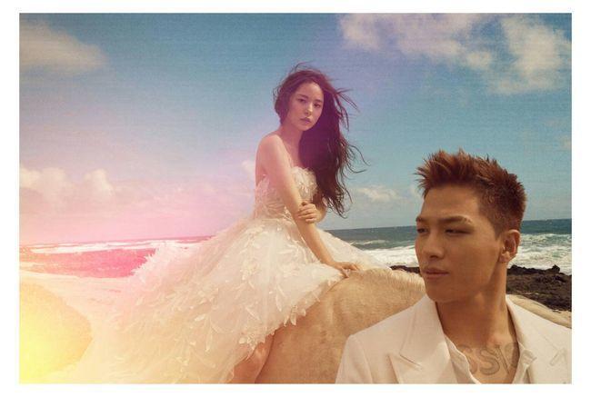太陽和閔孝琳新婚紗照曝光。圖/摘自IG
