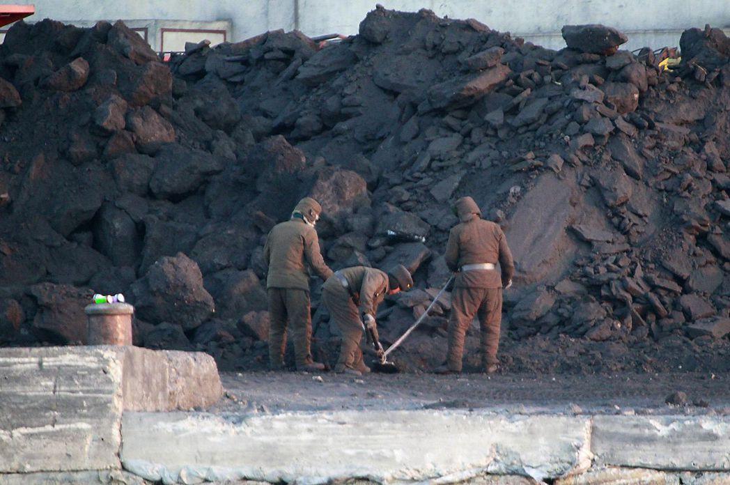 北韓煤礦。(圖/美聯社)