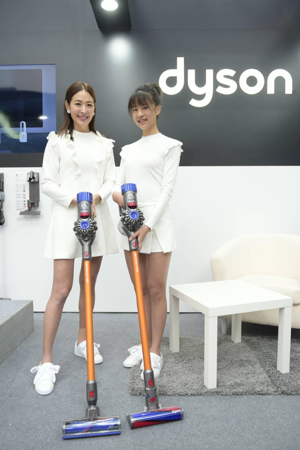 賈永婕母女都擁有超長美腿。圖/Dyson提供