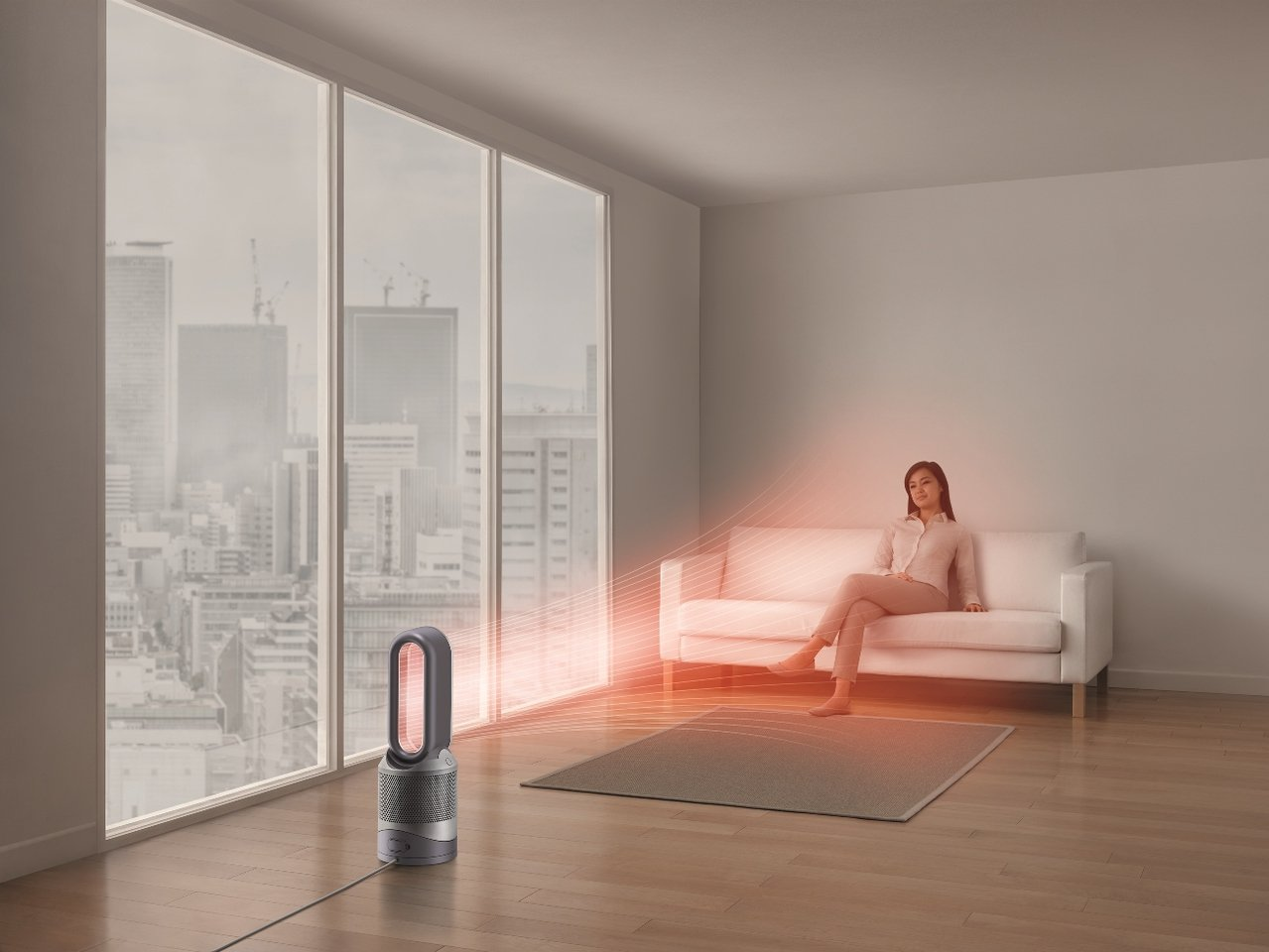 Dyson三合一涼暖空氣清淨機擁有暖風、風扇以及空氣清淨機功能,一年四季都能使用...