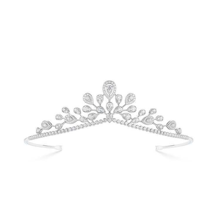 閔孝琳所配戴的Chaumet鑽石冠冕。圖/Chaumet提供