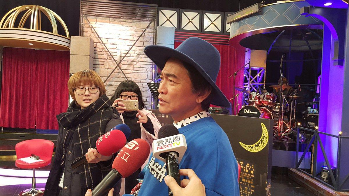 憲哥談到愛女咖啡店遭檢舉,為她打抱不平。記者林怡秀/攝影