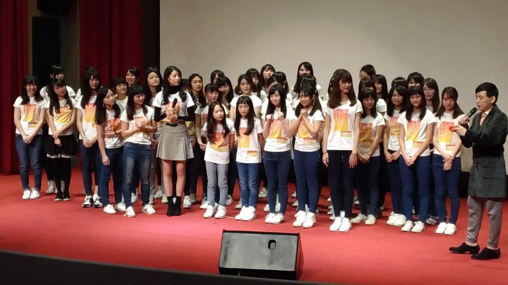 黃子佼昨宣布TPE48合格者名單。記者李姿瑩/攝影
