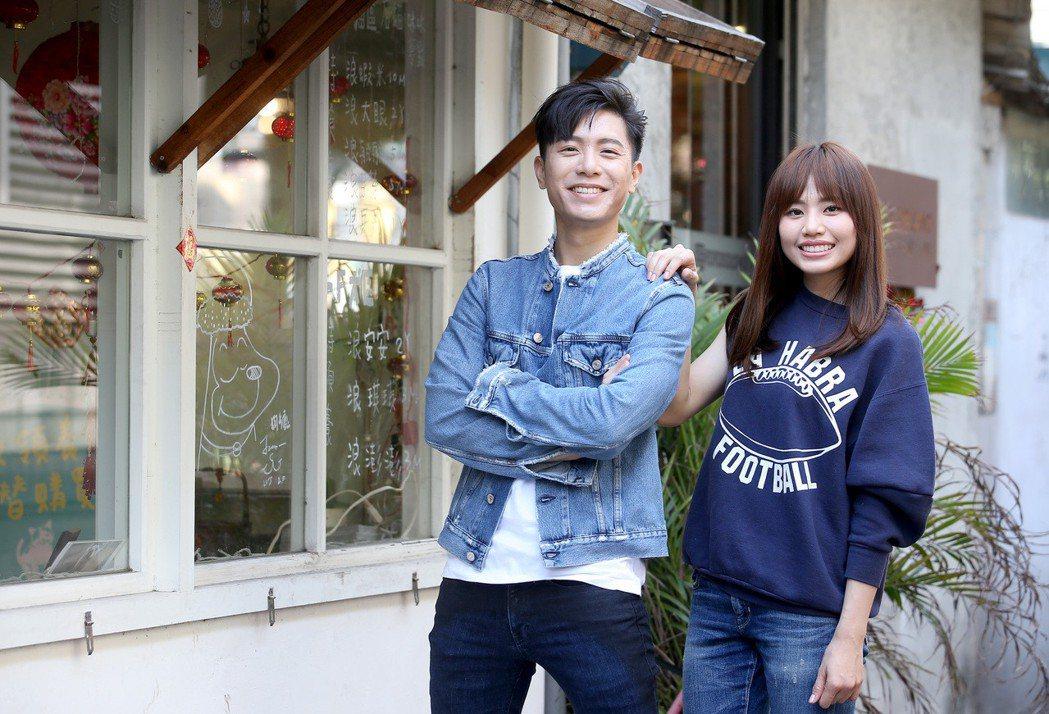 吳汶芳(右)與韋禮安(左)。記者余承翰/攝影
