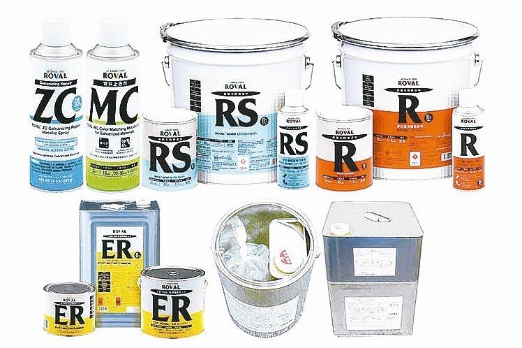 日本品牌ROVAL鍍鋅塗料,具十年超強防鏽功效。 美力華/提供