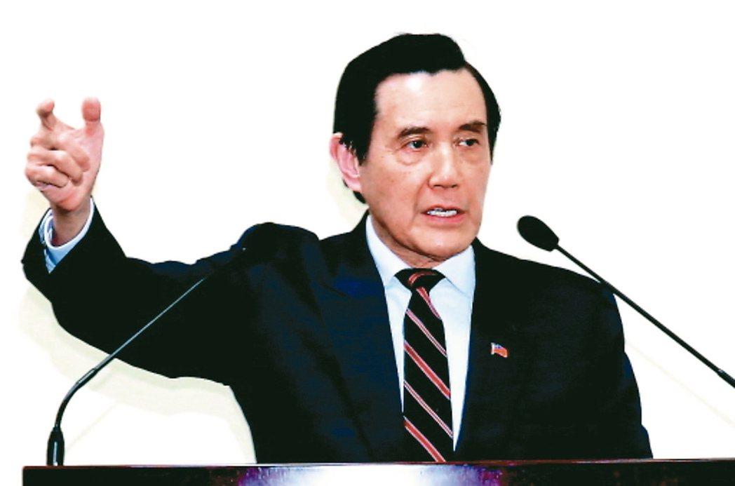 前總統馬英九參加 「反妨害司法公投聯盟」連署。 圖/聯合報系資料照片