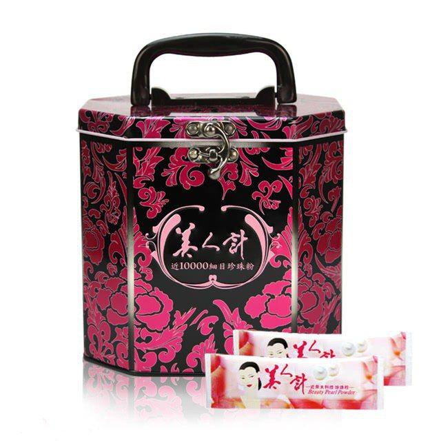 華陀美人計近微米細目珍珠粉禮盒,售價999元。圖/OK超商提供