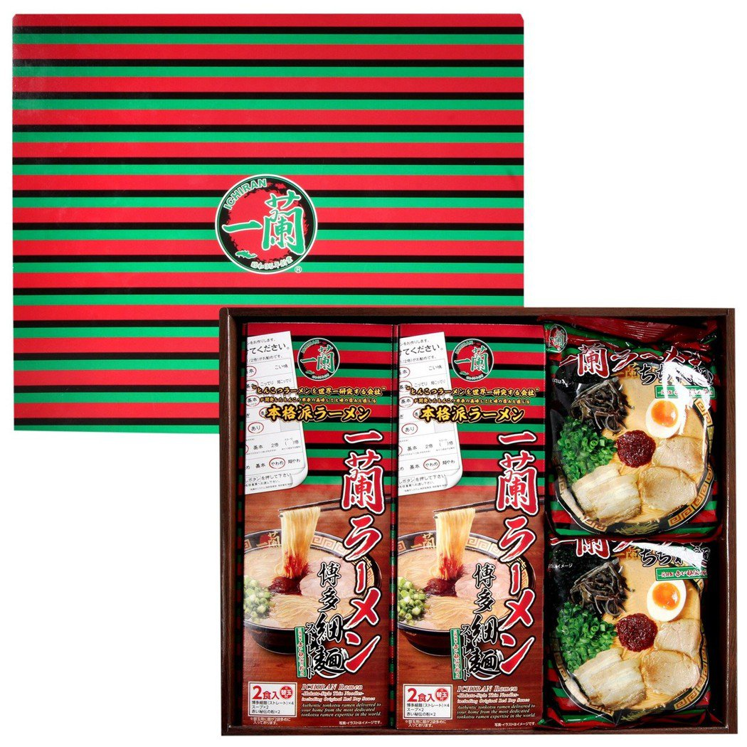 一蘭拉麵極上禮盒,特價1,480元。圖/JASONS提供