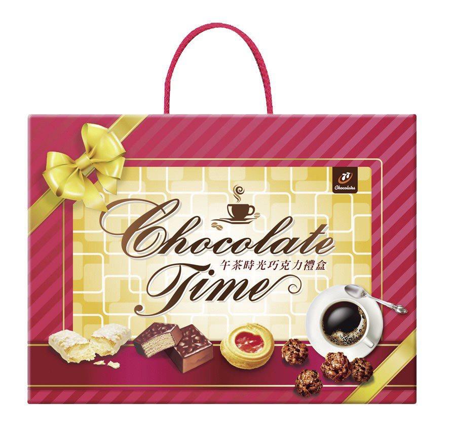 77午茶時光巧克力禮盒,特價199元。圖/大潤發提供