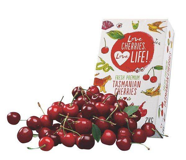 澳洲塔斯馬尼亞櫻桃禮盒,特價1,399元。圖/JASONS提供
