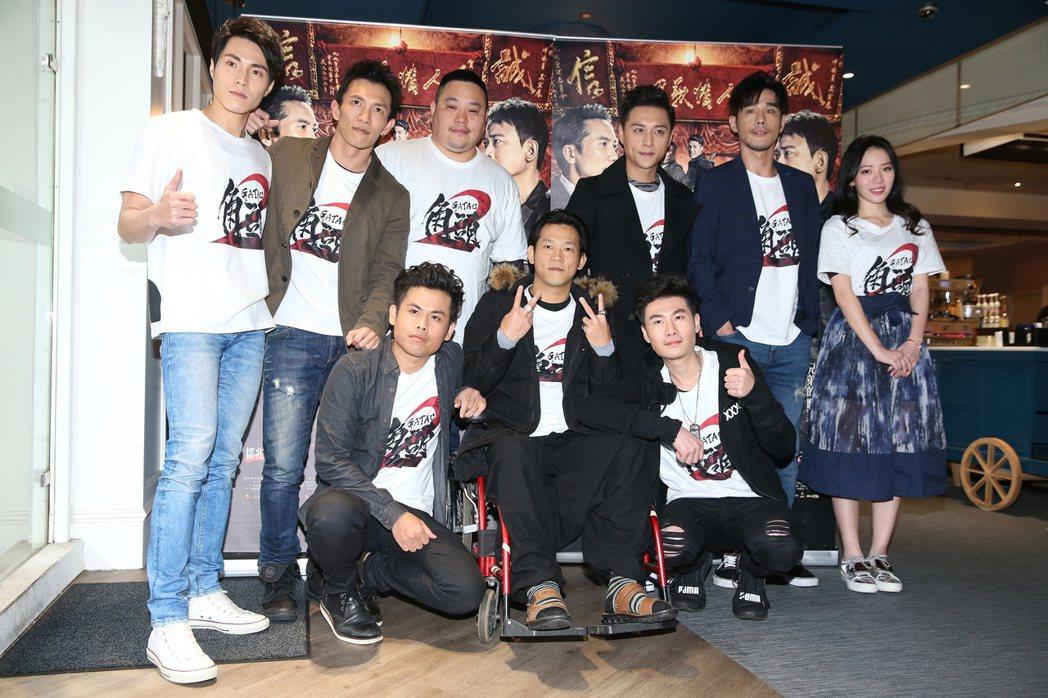電影「角頭2」,演員唐振剛(左起)、黃尚禾、張再興、吳震亞、導演顏正國、鄭人碩、