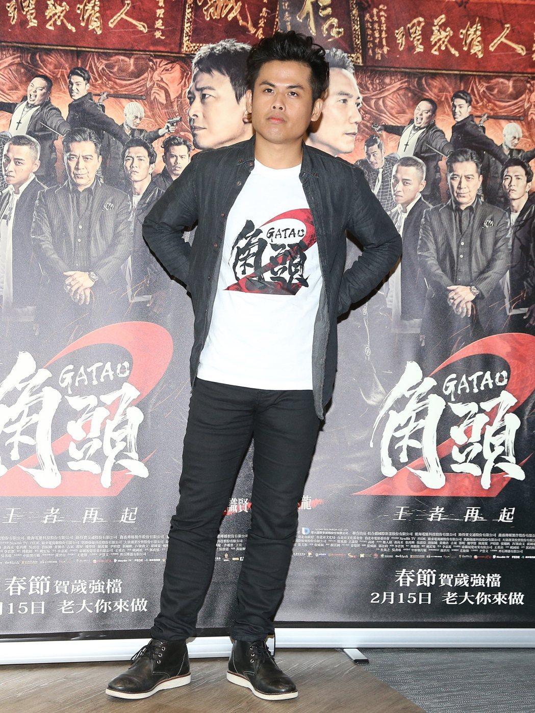 電影「角頭2」,演員張再興。記者楊萬雲/攝影