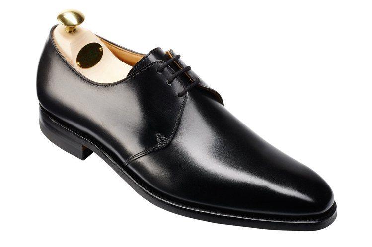 Crockett & Jones Highbury黑色三孔素面德比鞋,約18,0...
