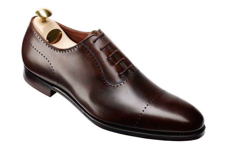 Crockett & Jones Courtenay深棕沖孔橫飾牛津鞋,約23,...