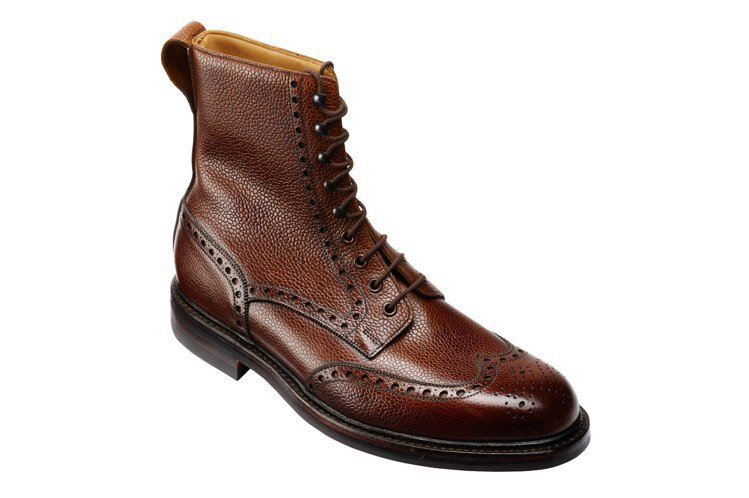 Crockett & Jones Islay深棕蘇格蘭粒面全雕花靴,約21,00...