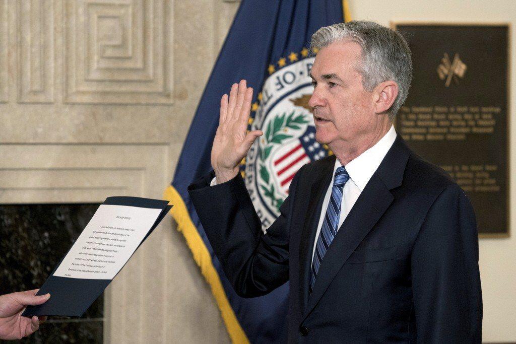 美國聯邦準備理事會(Fed)新主席鮑爾。美聯社