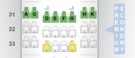 優選經濟艙的配置 (Photo Credit: Seatguru)。圖文來自於:...