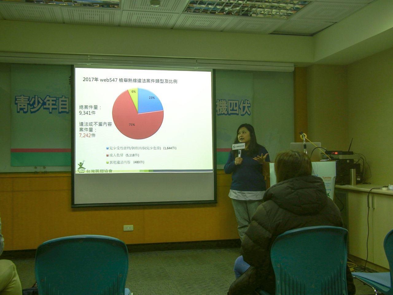 從2006年成立至今的Web 885 網路諮詢熱線中,台灣展翅協會今天公布報告發...