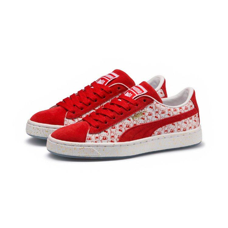PUMA與Hello Kitty聯名鞋款,約2,980元。圖/PUMA提供