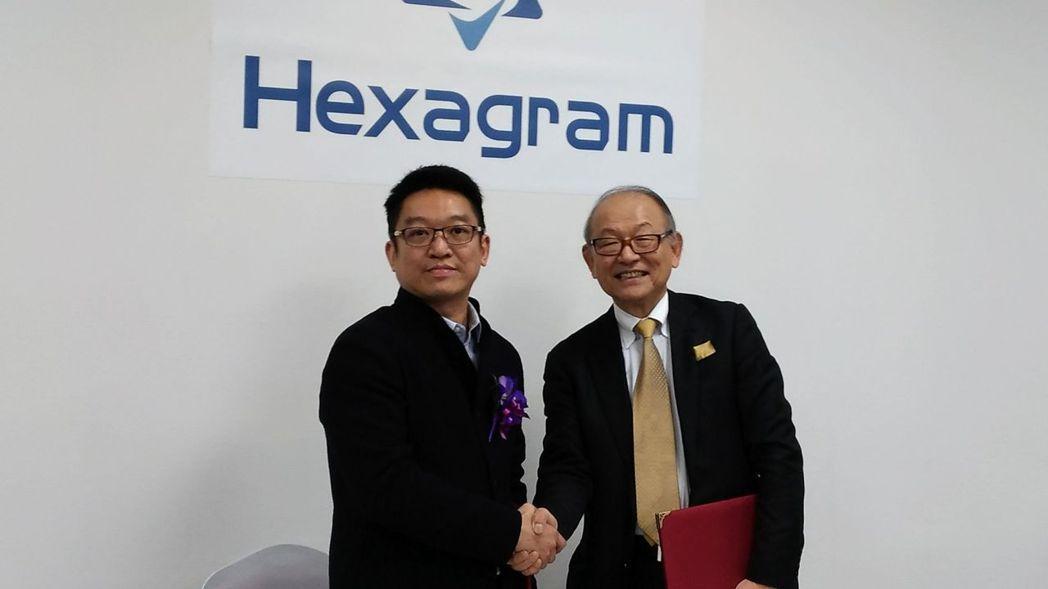 亞迪董事長周育良(左)與前Sony社長、MMB株式會社會長安藤國威(右)簽署戰略...