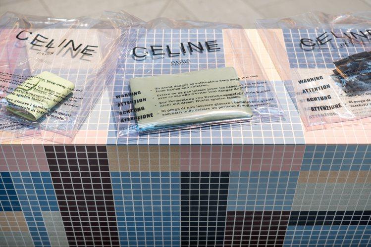 PURSE皮夾和塑料購物袋的包裝是幽默摩登的設計。圖/CÉLINE提供
