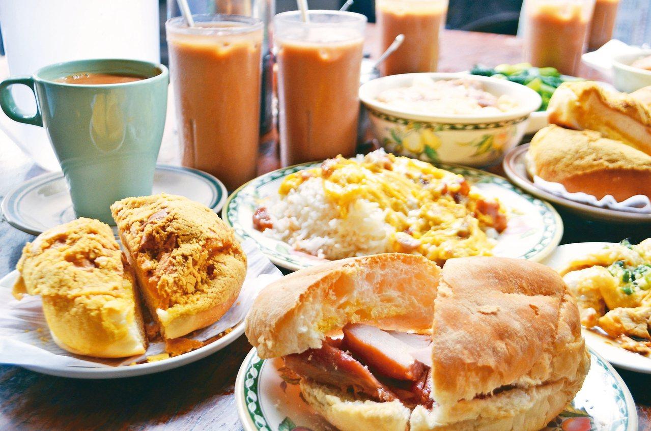 路環輝記美食茶座餐點種類眾多。 記者魏妤庭/攝影