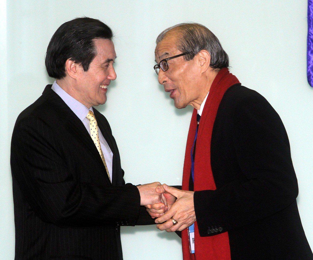 馬英九領銜為陳長文助陣發起「反妨害司法公正公投」。 圖/聯合報系資料照片