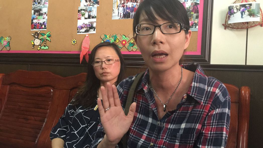 南台大震失去四位家人的劉怡辰(右)表示,「如果有我們幫得上忙的地方,請讓我們知道...