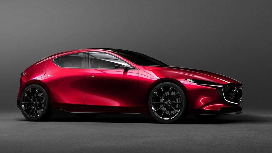 圖為先前曾於東京車展展演的 Mazda Kai Concept 概念車。 摘自...