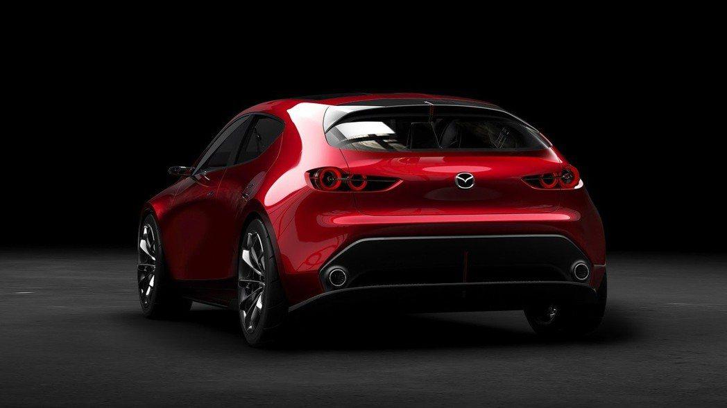 Mazda Kai Concept可看出新一代Mazda3的設計方向。 摘自 M...