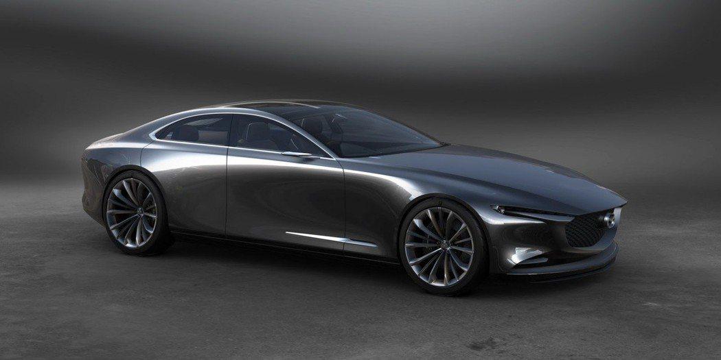 圖為Mazda Vision Coupe概念車,作為全新Mazda6的設計雛形。 摘自 Mazda