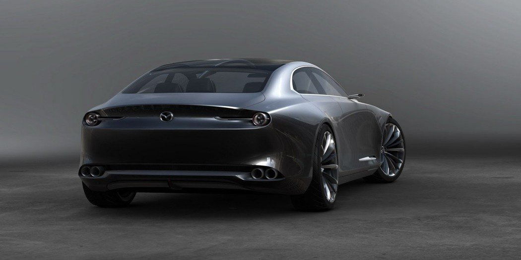 圖為 Mazda Vision Coupe 概念車。 摘自 Mazda