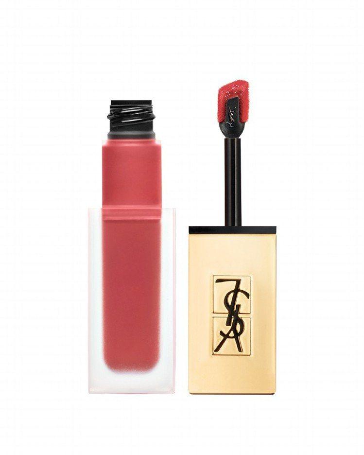 YSL時尚印記絲絨唇露#16裸色記號,售價50。圖/YSL提供