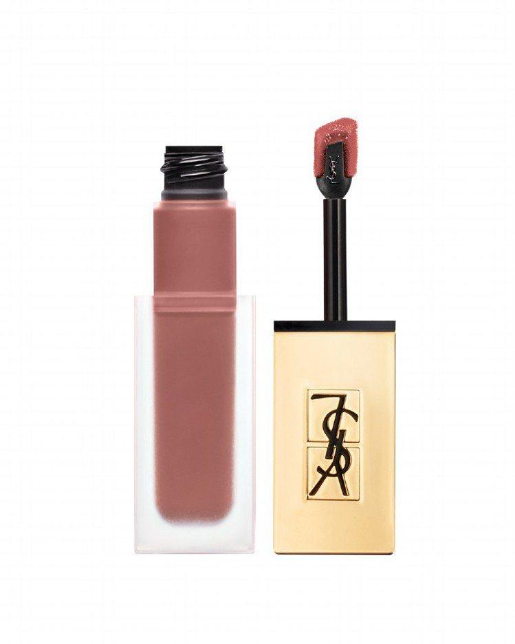 YSL時尚印記絲絨唇露#23純裸主義,售價50。圖/YSL提供