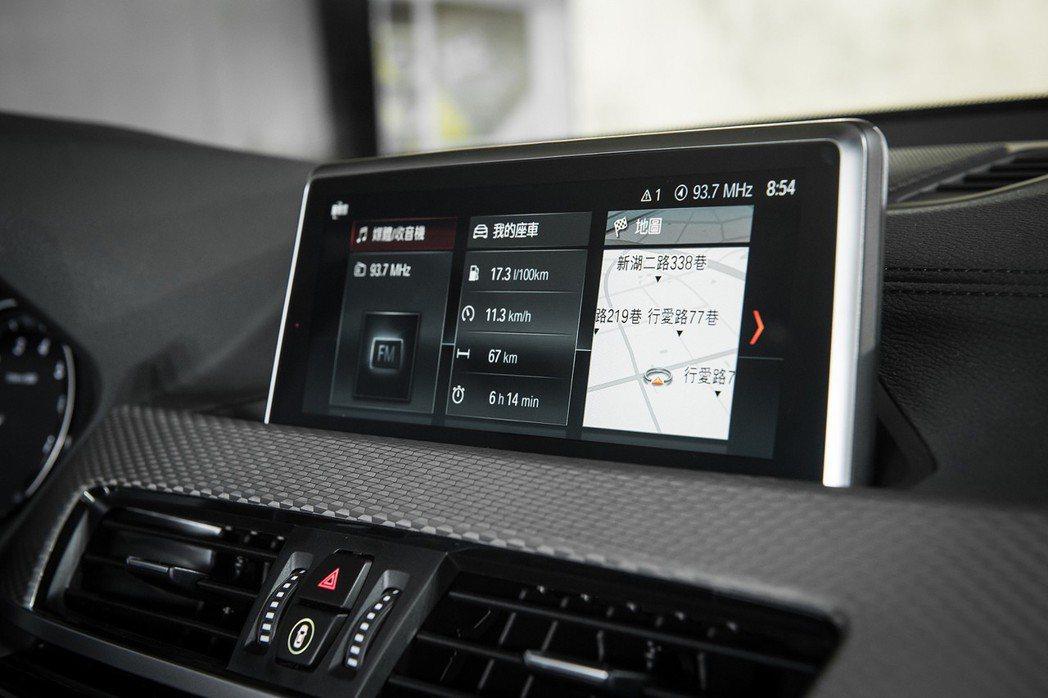 全新首創BMW X2全車系導入最新iDrive 6.0控制系統,圖像化界面設計讓...