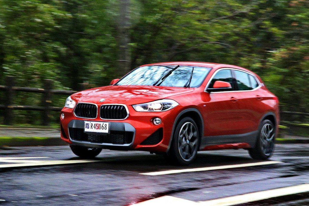 運動跨界跑旅BMW X2 sDrive20i M Sport X。 記者陳威任/...