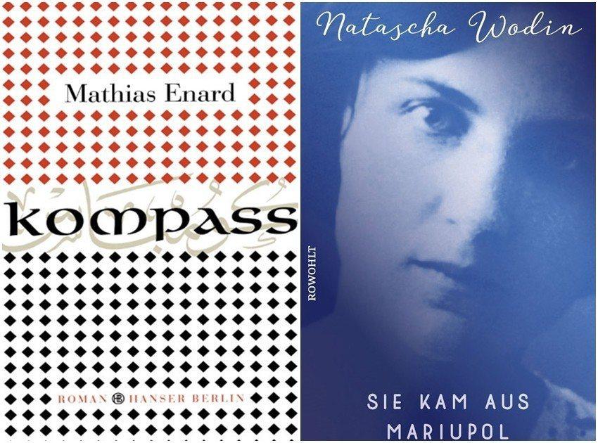 今年萊比錫書展獲獎的兩本小說《指南針》(左)還有《她來自馬里烏波爾》(右)分別談...
