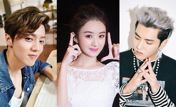 圖/鹿晗、趙麗穎、吳亦凡微博,Beauty美人圈提供