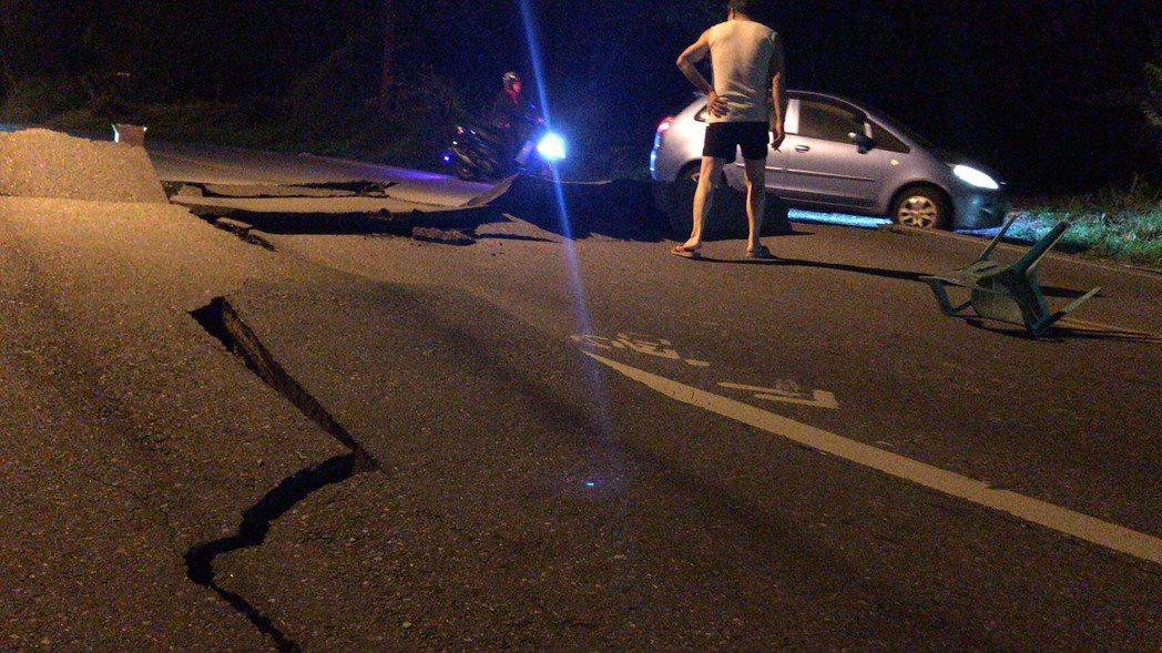 晚間23:50花蓮發生有花蓮地區附近發生規模6.0有感地震。圖/讀者提供