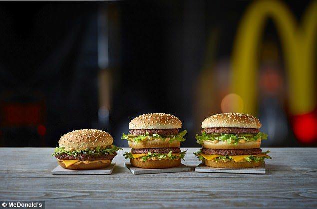 麥當勞推出限量版大麥克,紀念這款漢堡推出50周年。麥當勞提供