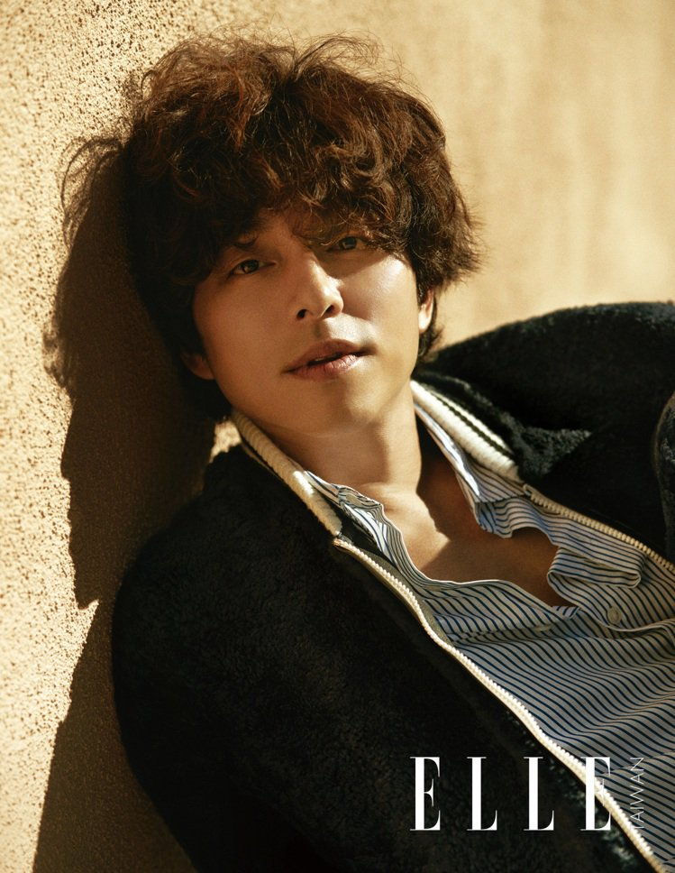 孔劉為拍攝時尚雜誌封面特地燙頭髮改變造型。圖/ELLE提供
