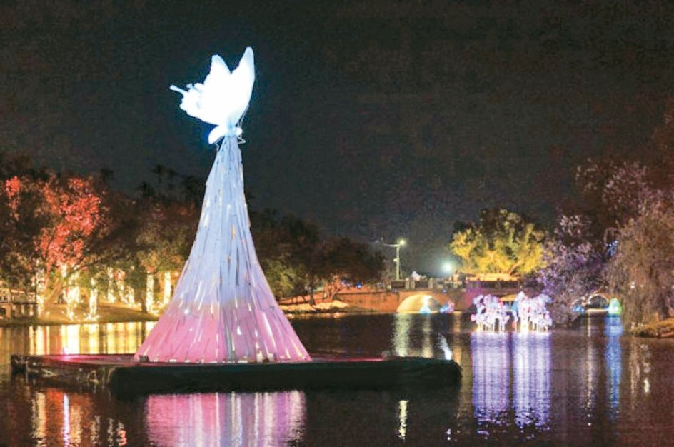 今年月津港燈節以相約為主題。 圖/台南市政府觀光旅遊局提供
