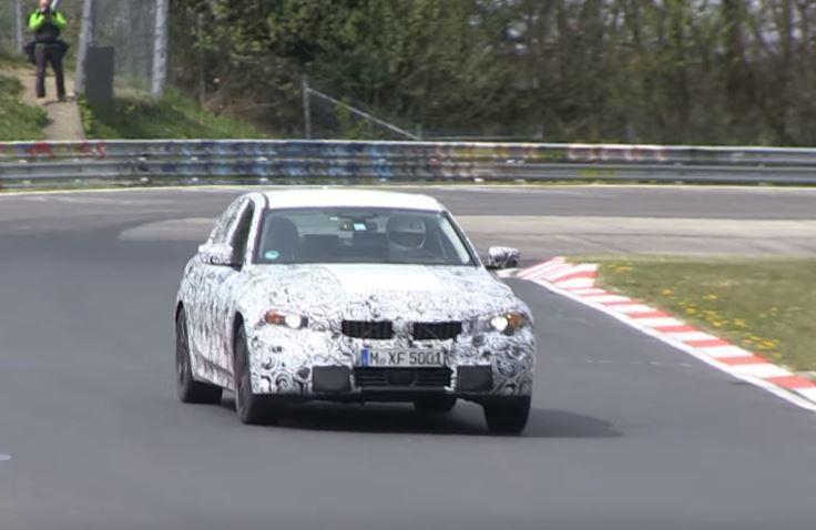 BMW 3系列 測試車於紐柏林賽道。 摘自Motor1